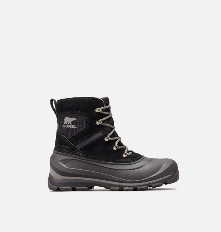 Snow Boots Black/Grey - Sorel Mens Buxton™ Lace - 563-PMNLJD