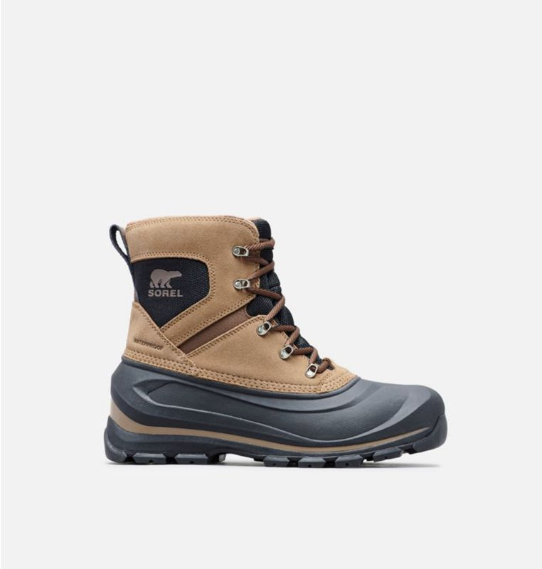 Snow Boots Brown/Black - Sorel Mens Buxton™ Lace - 709-GFIWTN