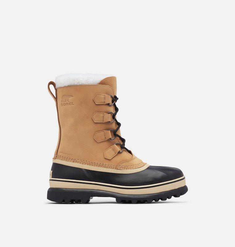 Snow Boots Brown/Black - Sorel Mens Caribou™ - 795-SALWDE