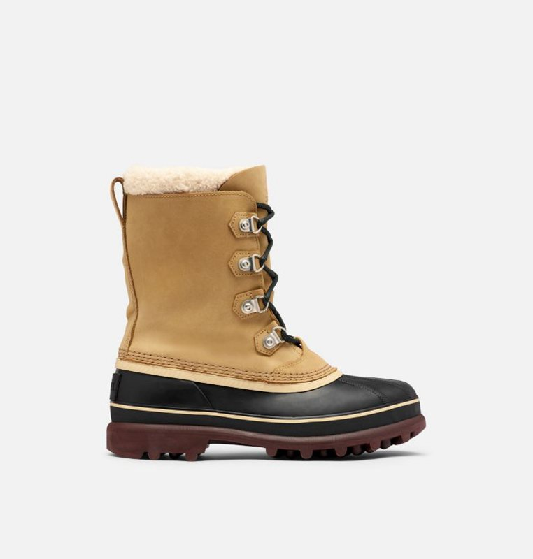 Snow Boots Brown/Black - Sorel Mens Caribou™ Stack - 528-RLGZHK