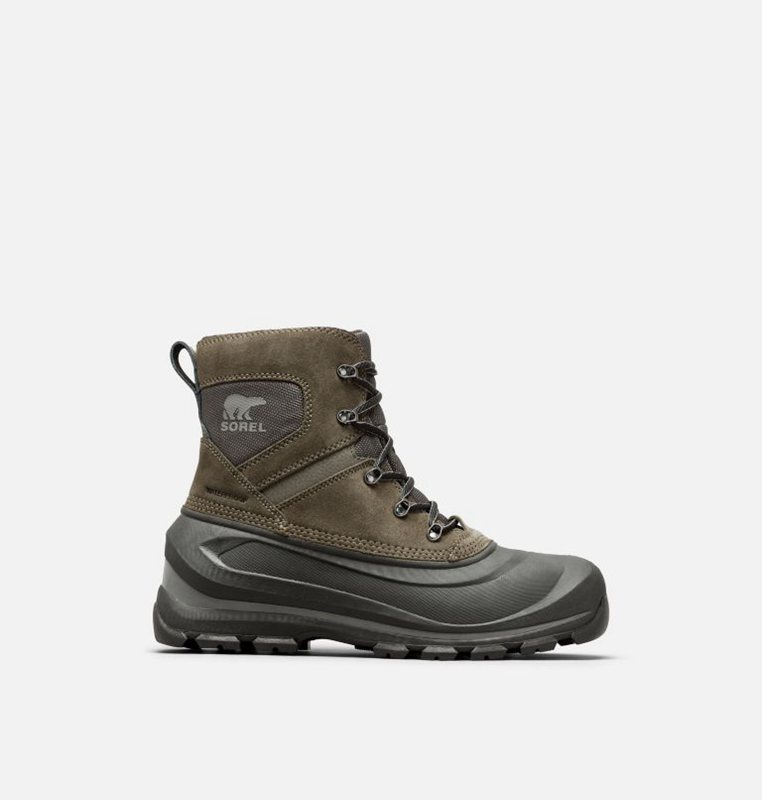 Snow Boots Deep Green - Sorel Mens Buxton™ Lace - 162-FLCDKB